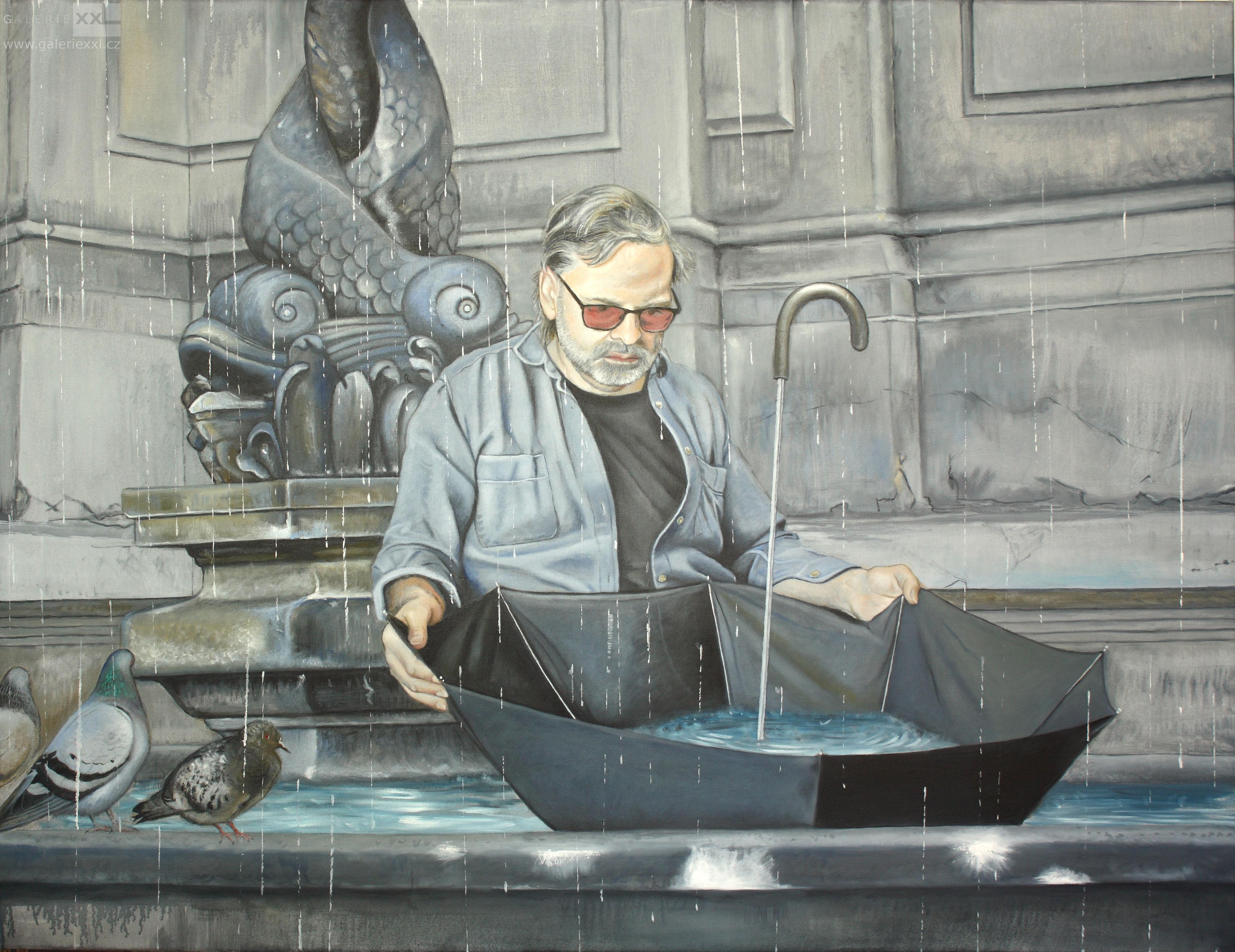 Muž s deštníkem (Alexandra Jiříčková)